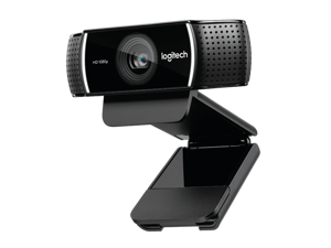 Logitech C922 Pro Stream Webcam 1080P Camera for HD Video Streaming & Recording At 60Fps Background Replacement + Tripod