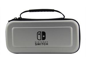 Corn Electronics Tough Pouch Carrying Case for Nintendo Switch with 9HD Tempered Glass Screen Protector - Silver