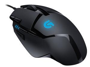 Logitech G402 910-004069 Black 8 Buttons 1 x Wheel USB Wired Optical 4000 dpi Hyperion Fury FPS Gaming Mouse with High Speed Fusion Engine - New in Brown box