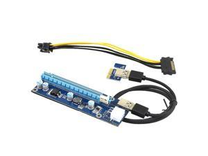 Corn Electronics Ver006C Mining Dedicated PCIe Riser Cable Card Riser Adapter Cryptocurrency PCI Express 1X to 16X Extender Mining Rig 60cm USB 3.0 6Pin Power