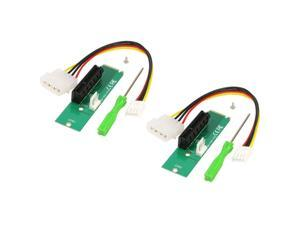 2Pack CORN M.2 NGFF PCIe M Key Male to PCI-e Express x4 Female Converter Adapter Card with Floppy 4 Pin to Molex 4 Pin Power Cable&Screw&Screwdriver Monero BTC ETH