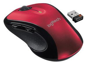 Logitech M510 Wireless Mouse, Three Buttons-Red