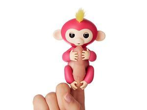 Fingerlings - Interactive Baby Monkey - Bella (Pink with Yellow Hair) By WowWee