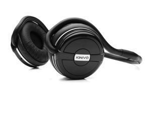 Kinivo BTH220 Silver / Black Bluetooth Stereo Headphone – Supports Wireless Music Streaming and Hands-Free Calling