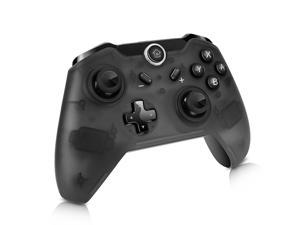 CORN Bluetooth Wireless Pro Controller for Nintendo Switch - Half Transparent Black