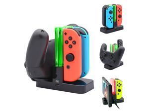 DOBE Controller Charger for Nintendo Switch, Charging Dock Stand Station for Switch Joy-con and Pro Controller with Charging Indicator