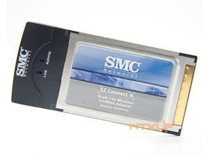 SMC SMCWCB-N2 EZ 2.4GHz 300Mbps Wireless N Pro Cardbus WiFi Adapter for Laptop