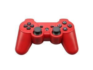 CORN Bluetooth Wireless Controller for Playstation 3 Dual Virbration Game Joystick PS3 PS3 Slim - Red
