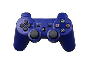CORN Bluetooth Wireless Controller for Playstation 3 Dual Virbration Game Joystick PS3 PS3 Slim - Blue