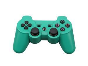 CORN Bluetooth Wireless Controller for Playstation 3 Dual Virbration Game Joystick PS3 PS3 Slim - Green