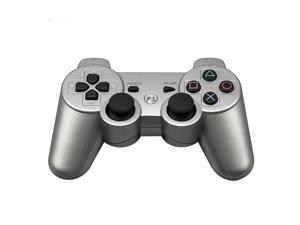 CORN Bluetooth Wireless Controller for Playstation 3 Dual Virbration Game Joystick PS3 PS3 Slim - Silver