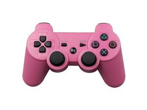 CORN Bluetooth Wireless Controller for Playstation 3 Dual Virbration Game Joystick PS3 PS3 Slim - Pink