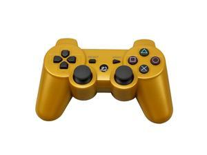 CORN Bluetooth Wireless Controller for Playstation 3 Dual Virbration Game Joystick PS3 PS3 Slim - Gold