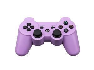 CORN Bluetooth Wireless Controller for Playstation 3 Dual Virbration Game Joystick PS3 PS3 Slim - Purple