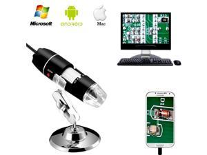 CORN 40 to 1000x Magnification Endoscope 2MP 8 LED USB 2.0 Digital Microscope Mini Camera with Metal Stand Compatible with Mac 10.5/Win7/8/10/Android with OTG/Linux