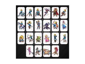 22PCS PVC NFC Tag Card The Legend of Zelda: Breath of the Wild For Switch/NS with Carrying Case ZELDA BOTW AMIIBO NFC PVC TAG Cards Game Toys with Latest 4 Champions Card