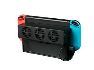 External USB Power Cooler for Nintendo Switch Docking Station, USB Cooling Fan for NS Original Dock - Black