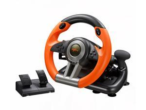 CORN Racing Wheel Apex for PC Game Joystick Simulator Professional for Windows/PS3/PS4/Xbox One Gaming Controller - Orange/Yellow
