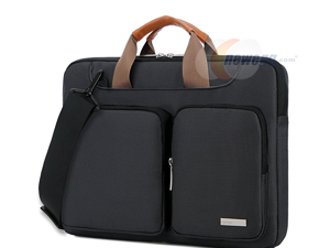 Lacdo 15- 15.6 Inch Laptop Shoulder Bag, 360° Protective Laptop Sleeve Case for Acer Aspire, Predator, Toshiba, Dell Inspiron, ASUS P-Series, HP Pavilion, Lenovo, Chromebook Notebook Briefcases, Black