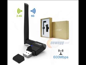 USB Wifi Adapter 600Mbps EDUP 802.11ac Dual Band 2.4G/5G Wireless Network Adapter USB Wi-Fi Dongle with 2dBi Antenna Support Windows XP,Win Vista,Win 7,Win 8.1, Win 10,Mac OS X 10.6-10.13