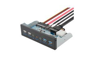 5.25 Inch Front Panel USB Hub With 2*2.0AF+3.0AF+Type-c+HD-Audio