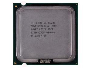Intel Pentium Dual-Core Processor E5200 2.5GHz 2M L2 Cache 800MHz FSB LGA775 desktop CPU