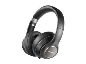 Soundcore Vortex Wireless Headset, 20H Playtime, Deep Bass, Hi-Fi Stereo Earphones for PC/Phones/TV, Soft Memory-Foam Ear Cups, w/Mic and Wired Mode (Renewed)