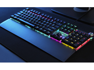 AULA F2088 All  Anti-ghosting Keys, Ergonomic Design, Cool Exterior  USB Wired Real Blue Mechanical Gaming Keyboard-Elite Version and Mixed Color Backlit