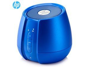HP S6500 Mini and Portable Speaker, Outdoor Wireless Bluetooth, and 3.5mm Cable Connectivity,  Stereo Sound and Bass, Built-in HD Microphone, Handsfree Calling-Blue