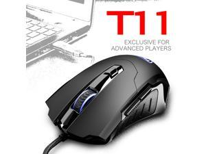 CORN T11  Ergonomic Design, Cool Exterior 6 Buttons USB Wired 2400DPI Gaming Mouse  - Black