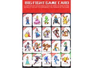 20PCS Super Smash Bros Ultimate NFC Card Big Fight Byleth NFC Tag Cards Amiibo Set - Linkage Card For NS Switch, Switch Lite Shipped Along With Leather Card Holder