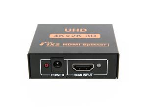 CORN New Ultra HD 4K 2 Port HDMI Splitter 1x2 Repeater Amplifier 1080P 3D Hub 1 In 2 Out