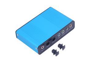 CORN USB External Sound Card Mini Laptop Computer  USB 6 Channel 5.1 Optical Controller Audio Sound Card S/PDIF