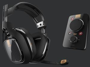Logitech Astro 40 Gaming Headset+ Mixamp PRO TR Sound Card, Built-in  MIC-Support MOD Accessory Change, Dolby 7.1 Surrounding Sound,  Astro Command Center Volume Customization