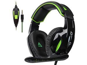 SUPSOO G813 Xbox One Headset PS4 Gaming Headset Gaming Over Ear Headphones with Xbox one Mic LED Lights Noise-canceling Microphone for PS4, PS4 PRO, Xbox One, Xbox One S,Laptop Mac Tablet Smartphone