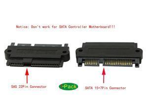 CORN SAS 22 Pin to 7 Pin + 15 Pin SATA Hard Disk Drive Raid Adapter with 15 Pin Power Port