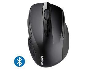 TeckNet 2600DPI Bluetooth Wireless Mouse, 24 Months Battery Life with Battery Indicator, 2600/2000/1600/1200/800DPI (Black)