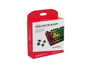 HyperX Double Shot PBT Keycaps - 104 Mechanical Keycap Set - Black & White Pudding - Durable - HyperX Mechanical Keyboard Compatible - OEM Profile