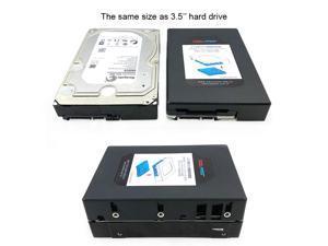 "CORN MRA260E 2.5 to 3.5 inch hard drive transfer box 2.5 inch SATA hard drive bay IDE hard drive bracket,support 7mm / 9.5mm / 15mm thickness 2.5"" HDD/ SAS HDD"