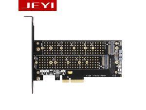 JEYI SK6 M.2 NVMe(M Key)&NGFF(B Key) SSD to PCI-E 3.0 x4 Adapter Converter Card