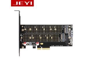 JEYI SK7 M.2 NVMe(M Key)&NGFF(B Key) SSD to PCI-E 3.0 x4 Dual Voltage Adapter Converter Card