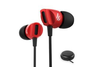 Edifier H235P Earphones in-Ear Earbuds Hi-Fi Stereo Headphones with Microphone and Volume Control for iPhone iPad iPod Samsung Galaxy and More Android Smartphones 3.5 mm Headphone -Red