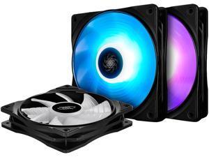 DEEPCOOL RF120M(3 in 1) Ultra Quiet intelligent PWM Fan 6 high brightness RGB LED Lights Motherboard Sync Multiple Control Modes