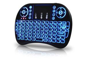 CORN Multi-Touch Mini Keyboard & Mouse [Updated 2019 Model]   Mini Wireless, Backlit & Rechargeable Keyboard for PC, Android, TV Box, Smart TV, Raspberry & All USB Port Devices