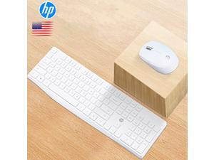 HP CS10  Ergonomic Design,Cool Exterior 2.4GHz Wireless Silent Typing  Chiclet Keys Keyboard And Mouse Combo For Office And Game - White