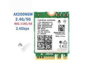 2.4G Wireless AX200NGW NGFF Network Wifi Card For Intel AX200 2.4G/5Ghz 802.11ac/ax Wi-fi Bluetooth 5.0 better than 9260AC NGW