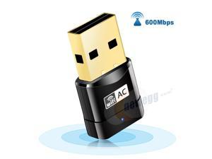 Corn USB WiFi Adapter, AC600 Mini Wireless Network WiFi Dongle for PC/Desktop/Laptop, Dual Band (2.4G/150Mbps+5G/433Mbps) 802.11 ac, Support Windows 10/8/8.1/7/Vista/XP, Mac OS 10.6-10.14