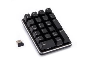 Magicforce Smart  21Keys Numeric Keyboard,  Ergonomic Design,Cool Exterior 2.4Ghz Wireless Mini Keyboard, PBT Keycaps  - Black( Gateron Blue)