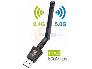 600Mbps USB Wifi Adapter for PC,CORN Mini 802.11ac Dual Band 2.4G/5G High Gain 2dBi Antenna Wireless Network Adapter Wi-Fi Dongle Adapter Support Windows XP,Win Vista,Win 7,Win 8.1, Win 10,Mac OS X 10
