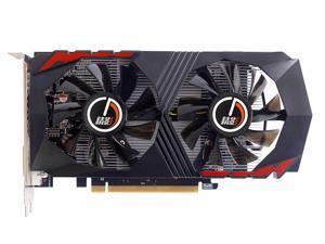 CORN AMD RX560 128-Bit 4GB GDDR5 Graphic Card support DirectX12 with dual fans Video Card GPU PCI Express 3.0 DP/DVI-D/HDMI,Play for LOL,DOTA,COD,War Thunder etc.